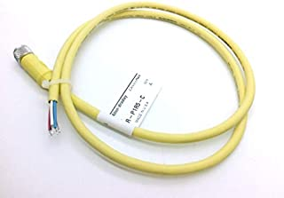 ALLEN BRADLEY 1485R-P1R5-C 1.0, STANDARD 5 LEADS, DEVICENET PHYSICAL MEDIA, STRAIGHT FEMALE, THIN MEDIA, MICRO, STANDARD 5-PIN, STANDARD - EPOXY COATED ZINC, 1 M, STANDARD PASSIVE CABLE, CABLE, YELLOW