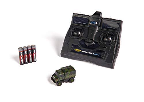 Carson 1:87 MB Unimog U406 Camouflage 100% RTR, ferngesteuertes Fahrzeug, fahrfertiges Modell, mit LED Beleuchtung, sehr Kleiner Wendekreis, perfekt für Dioramen, 500504127, Mehrfarbig