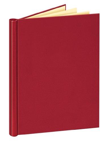 Veloflex 4944220 Klemmbinder A4 mit Leinenstruktur, Klemm-Mappe, Füllmenge max. 150 Blatt, wein-rot