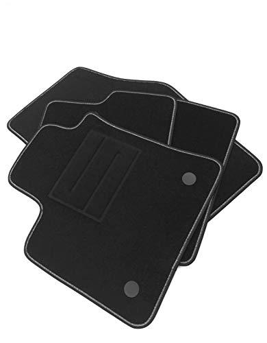 ASC Fußmatten Megane 4 Serie Auto mit Einstiegsleisten und Knöpfen