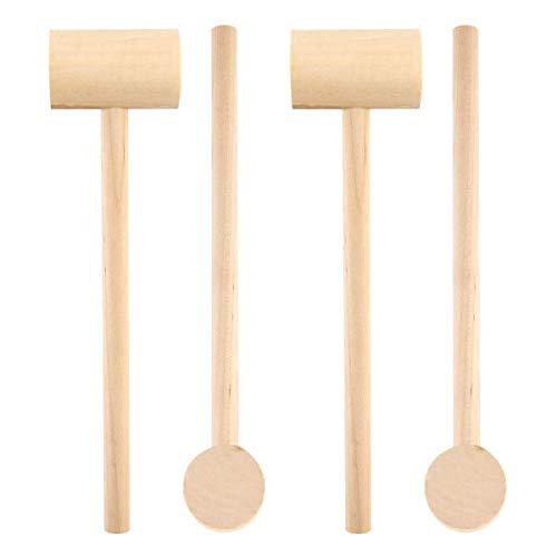 Martillo de madera, Cangrejo langosta Mallet Mariscos Shell Cracker Herramienta para Niños