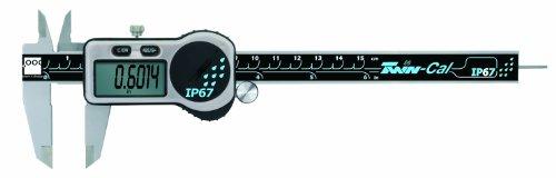 TESA Brown & Sharpe 00590302 TWIN-CAL IP67 Digital Caliper, 0-6'...