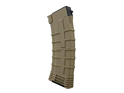 BEGADI Airsoft/Softair AK 74 Reinforced Polymer Midcap Magazin (130 BBS) -TAN-