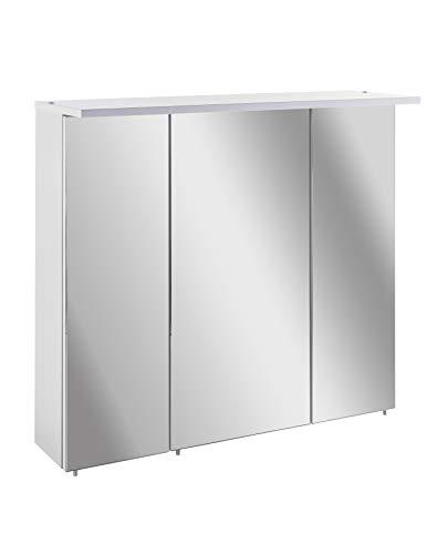 Schildmeyer Spiegelschrank, Holz, weiß, 70.5x16x73 cm