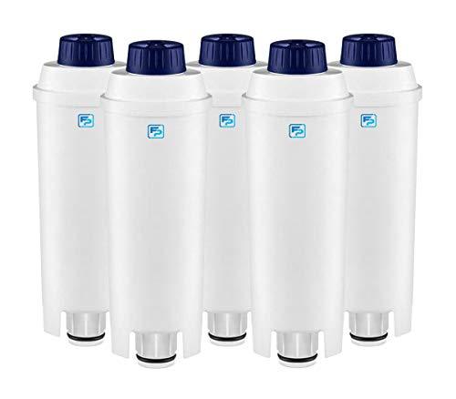 5-pack Wasserfilter kompatibel mit DeLonghi DLS C002 Kaffeemaschinen Filterpatronen, DLSC002, SER 3017, Magnifica, Caffe, Cappuccino, ECAM, ESAM, ETAM, BCO, EC
