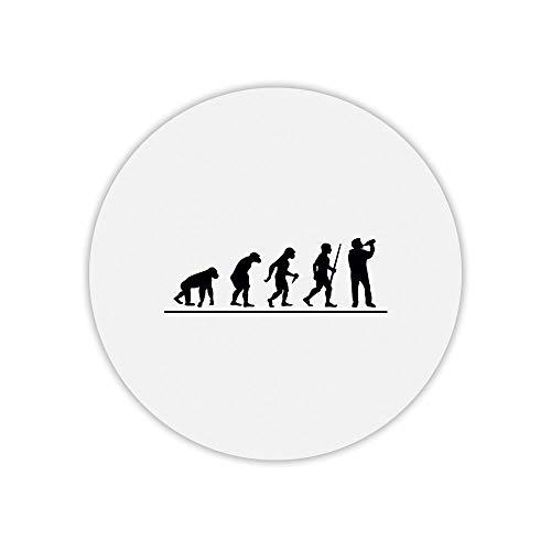 Mauspad, rund, Bedruckt, Evolution Bier