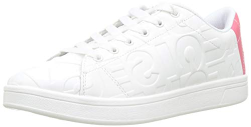 Desigual Tenis Patch, Sneakers Basses Femme, Blanc...