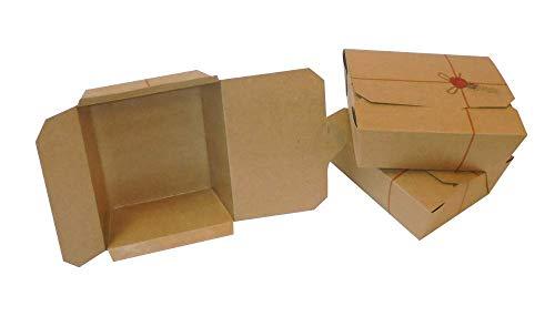 PZ 60 Box Alimenti Medio in CARTONCINO Alimentare Generico Scatola RICHIUDIBILE per FRITTI E per Alimenti