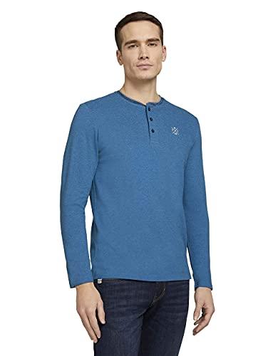 Tom Tailor 1024930 Longsleeve Camiseta, Bright Ibiza Blue 26178-Juego de Mesa, XXXL...