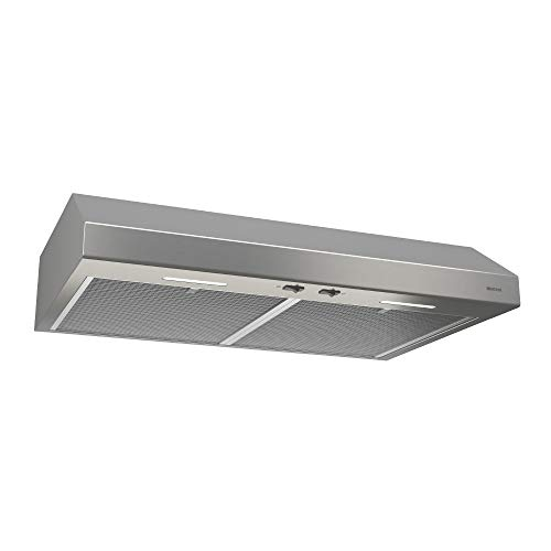 Broan-NuTone BCSEK130SS Glacier Energy Star Certified Range Hood with Light Exhaust Fan for Under Cabinet, 250 CFM, 30-Inch, Stainless Steel
