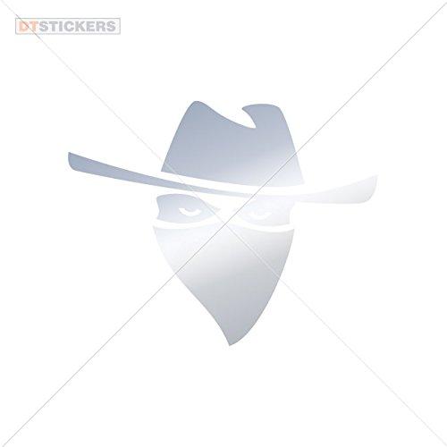 Vinyl Stickers Decal Thief Thug Mobster Doors H For Helmet waterproof (8 X 6,32 In. ) Metallic Chrome Mirror