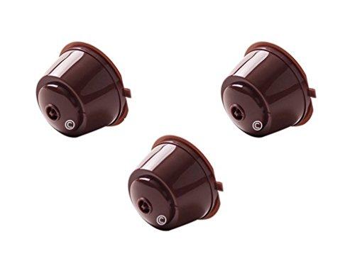 Coffee2u ricaricabile per caffè riutilizzabile capsule per capsule Dolce Gusto Coffiee macchine 3 capsule di caffè