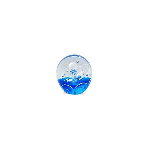 Art Deco Home - Presse-Papier Bleu Cristal 7 cm - 14300SG