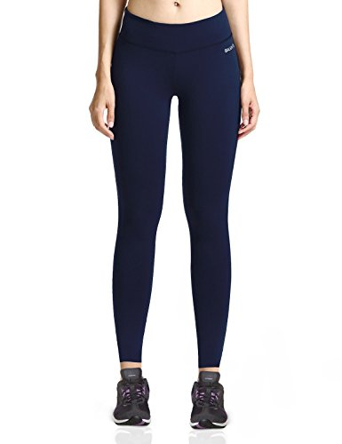 Baleaf Women's Ankle Legging Inner Pocket Non See-Through Dark Navy Size M