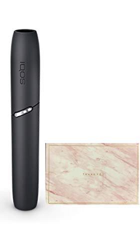 <製品未登録品>IQOS3 アイコス3 DUO ホルダー 単品 日本国内正規品 2本連続可 と<想い伝えるオリジナルメッセージカード ピンク > (ベルベットグレー)