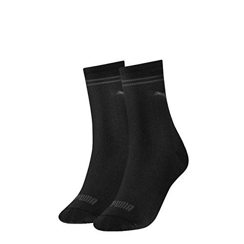 PUMA Damen New Casual Socken Classic 6er Pack, Größe:35-38, Farbe:Black (200)
