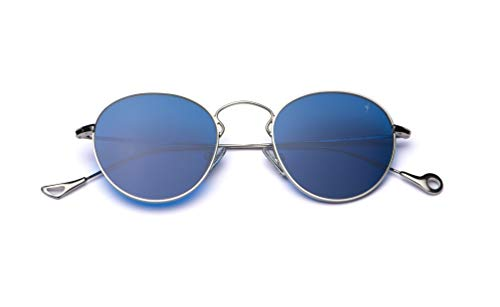 Eyepetizer Occhiali da sole Unisex modello Julien colore asta argento e lente blu