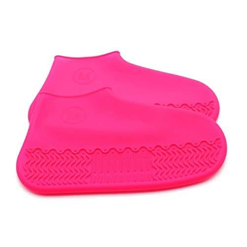 Yongqin Fundas Para Zapatos Impermeables 1 Par De Fundas De Silicona Reutilizables Para Zapatos S/M/L Fundas Impermeables Para Zapatos De Lluvia Para Acampar Al Aire Libre Cubrezapatilla