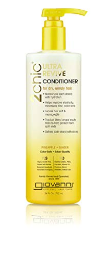 GIOVANNI 2chic Ultra Revive Conditioner 24 oz Pineapple amp Ginger for Dry Unruly Hair Enriched with Coconut Guava Aloe Vera ProVitamin B5 No Parabens Color Safe Pack of 1