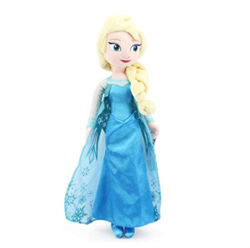 Gefrorene Prinzessin Kinder Puppenspielzeug ELSA Plüschpuppe Spielzeug Mädchen Baby Geburtstagsgeschenk Plüsch Gefüllte Puppe Anna Kid Schöne Stoffpuppe 40 cm