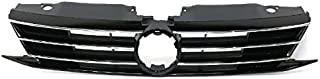 Koolzap For 15-18 VW Jetta Front Face Bar Grill Grille Assembly Black w/o Collision Warning