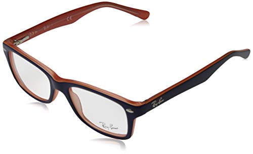 Ray-Ban Unisex-Erwachsene 0RY1531 Brillengestelle, Blau (Orange Trasp On Top Blue), 48