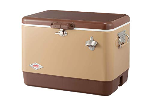 コールマン(Coleman) クーラーボックス スチールベルトクーラー 54QT 約51L 保冷力4日 バターナッツ