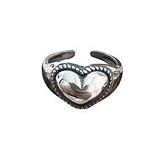 SDCAJA Women Rings Personality Domineering Faucet With Rose Gold Ring Girls Vintage Heart Adjustable Ring Jewelry Gift