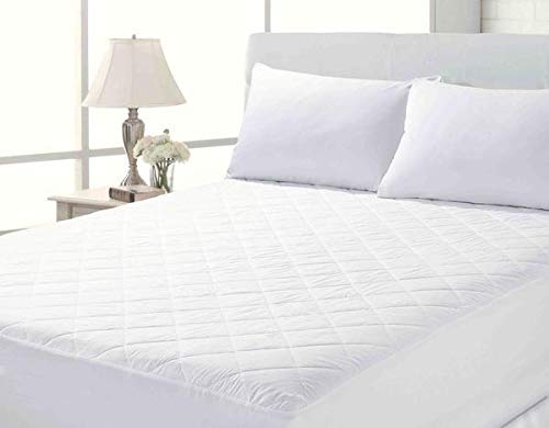 Deep Quilted Fitted Mattress Protector/Cover All Bed Sizes ~ IN STOCK FREE P&P (Single)