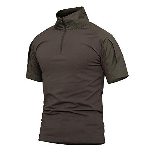 YFNT Camisa Militares De Polo De Collar de pie De Los Hombres...