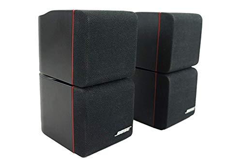 2X Bose Acoustimass Series II Doppelcubes Lautsprecher Schwarz mit rotem Rand