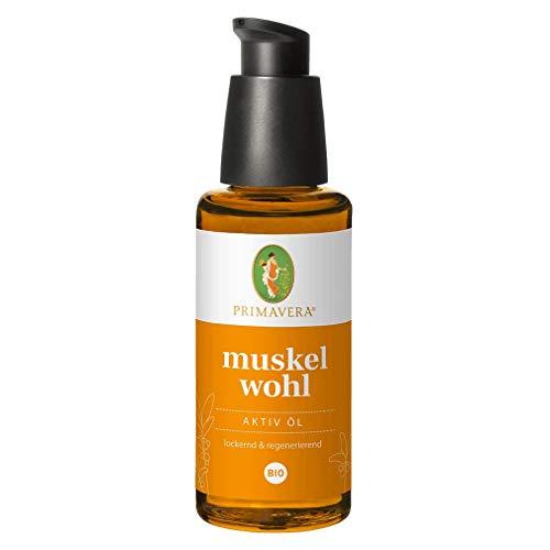 PRIMAVERA Muskelwohl Aktiv Öl bio 50 ml - Muskelöl bei Muskelkater und Verspannungen - Aromatherapie - lockernd, regenerierend - vegan
