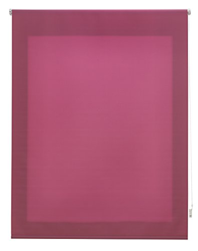 Uniestor Estor Enrollable Liso Traslúcido, Tela, Lila 160x175 cm