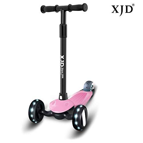 XJD Kinderroller Kinderscooter mit 3 Rädern Kinder Roller für Mädchen Junge ab 2 Jahren Höchenverstellbar sperrbare Richtung Abnehmbar Lenkerhöhe