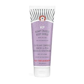 First Aid Beauty KP Bump Eraser Body Scrub with 10% AHA  Vegan Body Scrub to Decongestant Pores and Gently Exfoliate the Skin  8 oz