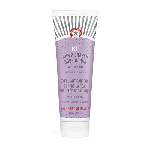 First Aid Beauty KP Bump Eraser Body Scrub with 10% AHA: Vegan Body Scrub to Decongestant Pores and Gently Exfoliate the Skin (8 oz)