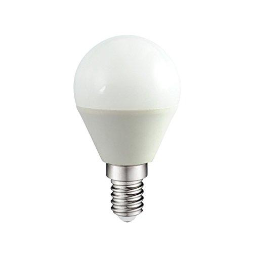 Wonderlamp W-B000052 - Pack 10 x Ampoule LED SMD sphérique, culot E14, haute puissance, 4W, lumière neutre (4200ºK), 300 lm, 25000 heures, angle de lumière: 180º. Allumage instantané (100% lumière 0,5s)