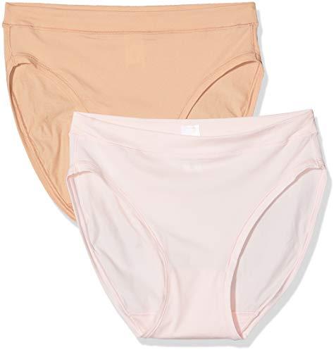 Dim Slip Body MOUV X2 Cierre, Multicolore (Rose Ballerine/New Skin 8yb), 36 (Pack de 2) para Mujer