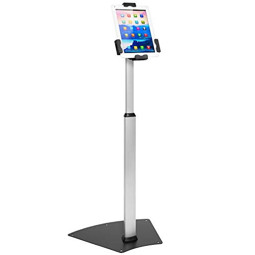 """Mount-It! Anti-Theft Universal Tablet Floor Stand Kiosk – Height Adjustable Tablet Kiosk Floor Stand - Locking Tablet Mount Stand for iPad 7, Galaxy, Surface Go & Other 7.9""""- 10.5"""" Tablets"""