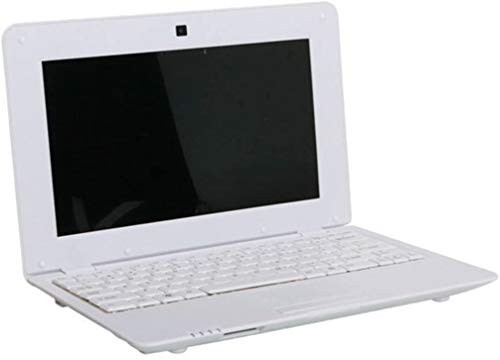 HSW New 2018 HD 10 inch Mini Laptop Notebook Netbook Tablet Computer 1G DDR3 4GB Memory VIA WM8880 CPU Dual Core Android Screen WiFi Camera Keyboard USB HDMI (White)