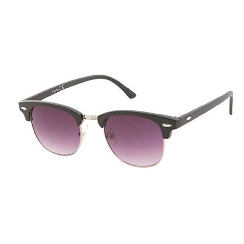 Kost Gafas de sol Hombre Mujer 100% protección UVA gafas Unisex - Clásicas Negro Plateado