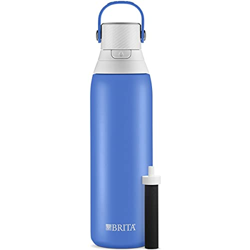 brita bpa free water bottles Brita Stainless Steel Water Filter Bottle, Ocean, 20 Ounce, 1 Count