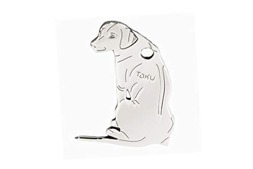 Taku Rhodesian Ridgeback Edelstahl Hundemarke - Schlüsselanhänger – Taschenanhänger - Anhänger für Halsband - Tier-Anhänger - Halsbandanhänger - Hunde-Marke