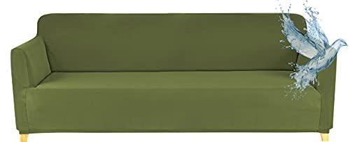 Funda Sofa 3 Plazas Impermeable Fundas para Sofa Elasticas Funda de Sofa Ajustables Antideslizante Protector Fundas Sofa, Verde