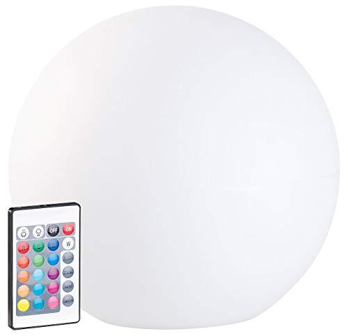 Lunartec Solarleuchtkugel: Solar-LED-Leuchtkugel mit Fernbedienung, RGBW, 60 Lumen, IP67, Ø 30 cm (Kugellampe)