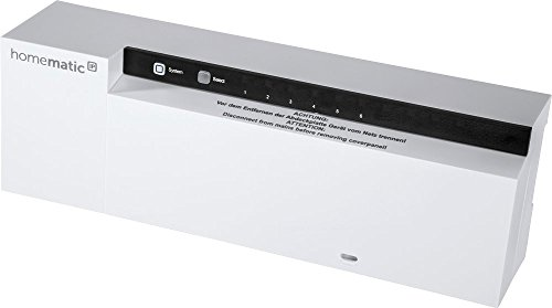 Homematic IP Fußbodenheizungsaktor – 6-fach, 230 V, intelligente Fußbodenheizung auch per App, 142974A0