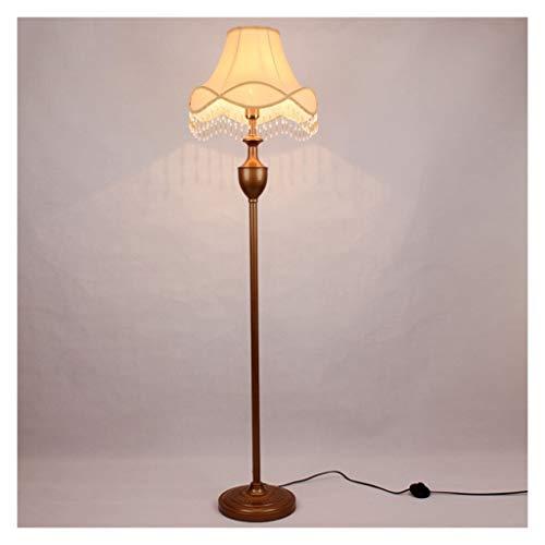 Lampe sur pied Lámpara de pie Estilo retro europeo vertical del vector de la lámpara Inicio comedor Oficina de iluminación de la lámpara de lectura Decoración Piano lámpara de cabecera de la lámpara d