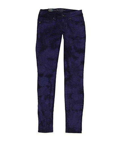 Bullhead Denim Co. Womens Premium Skinniest Skinny Fit Jeans, Purple, 1/2