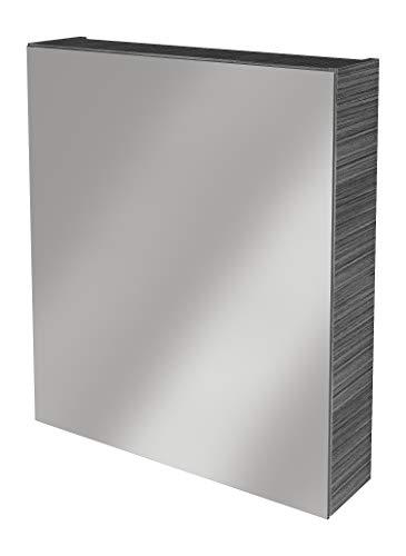 Lanzet Spiegelschrank L0 / Badschrank mit Spiegel/Maße (B x H x T): ca. 60 x 68 x 14,5 cm/Möbel fürs Badezimmer oder WC/hochwertiger Schrank mit 1 Tür/Türanschlag Links/Korpus: Schwarz