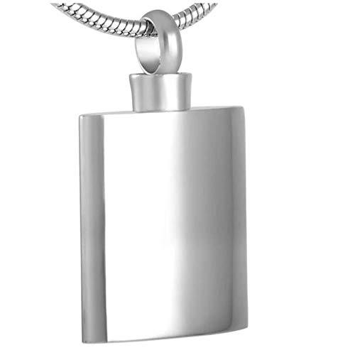 N-B Forma de Botella Soporte para Cenizas Cofre Locket Memorial Urna Collar Joyas de Acero Inoxidable